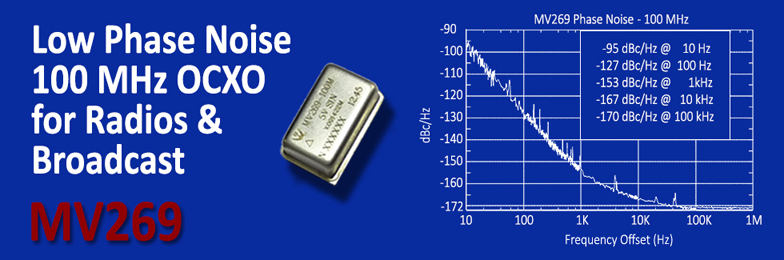 Low Phase Noise 100 MHZ OCXO for Radio and Broadcast